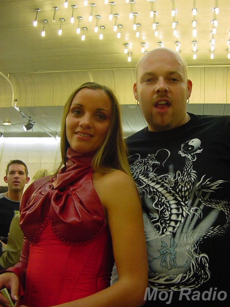 MISS 2003 Metka Albreht in DJ Robby J
