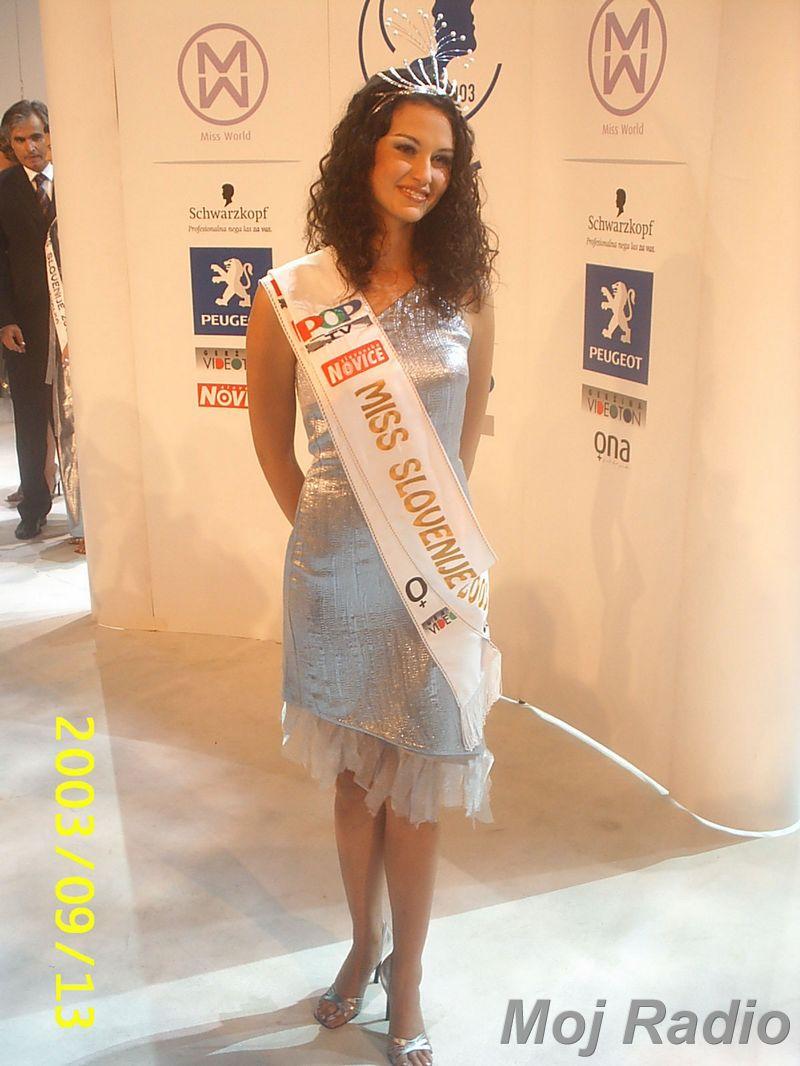 MISS 2003 Misica 2003-Tina Zajc 2