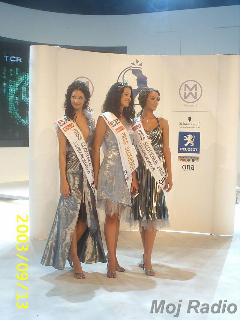 MISS 2003 Prve tri Miss 2003 2