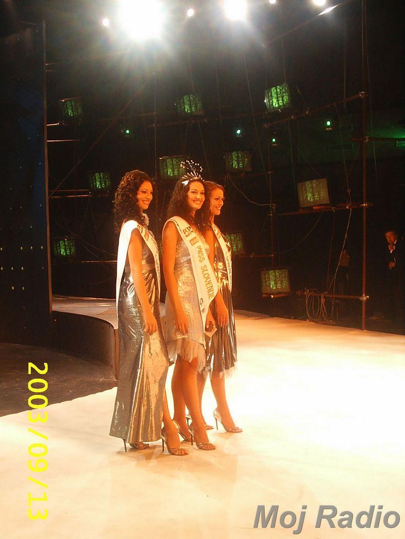 MISS 2003 Prve tri Miss 2003