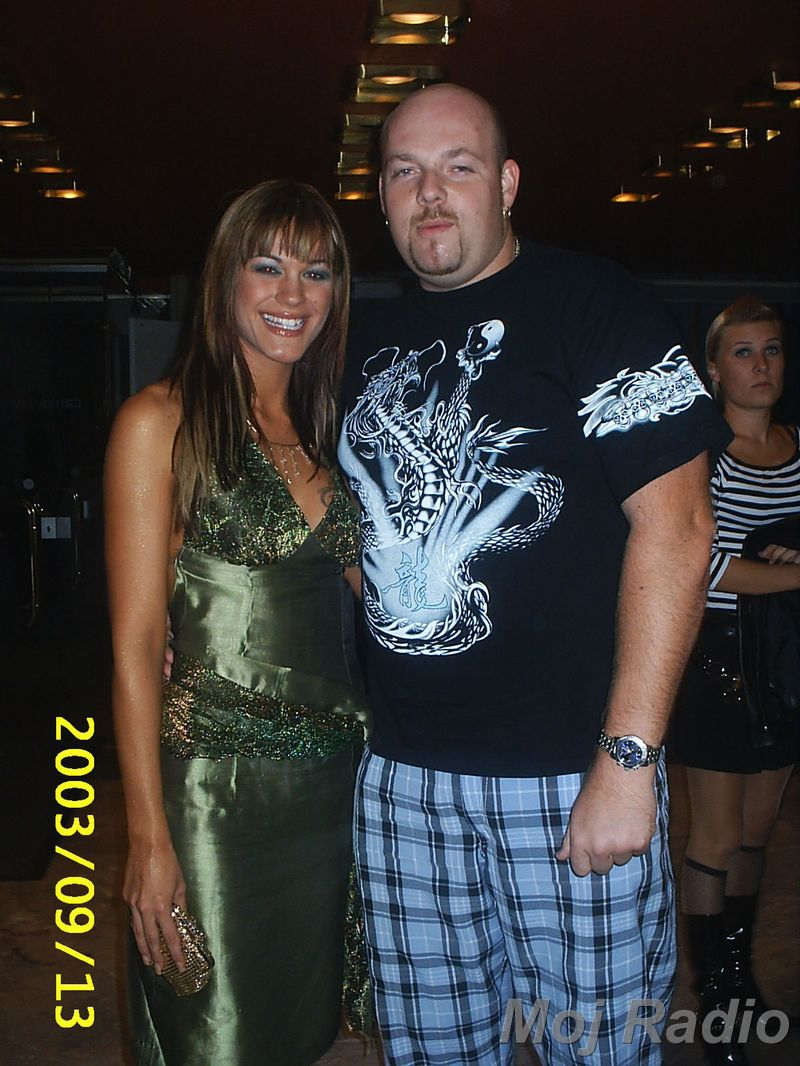 MISS 2003 Rebeka Dremelj in DJ Robby J