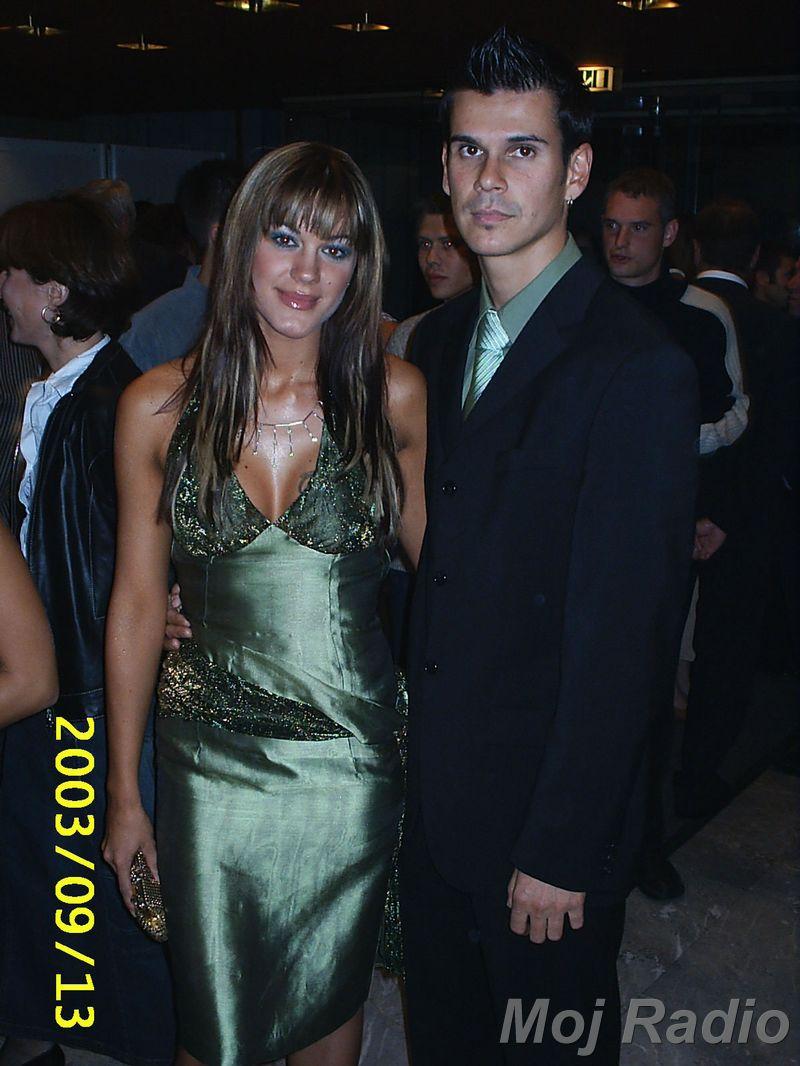 MISS 2003 Rebeka Dremelj in njenant